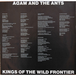 Kings of the Wild Frontier Canadian inner sleeve