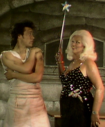 Adam and Diana Dors in the Prince Charming video